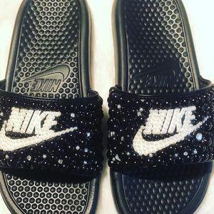 Nike Bedazzled Slides